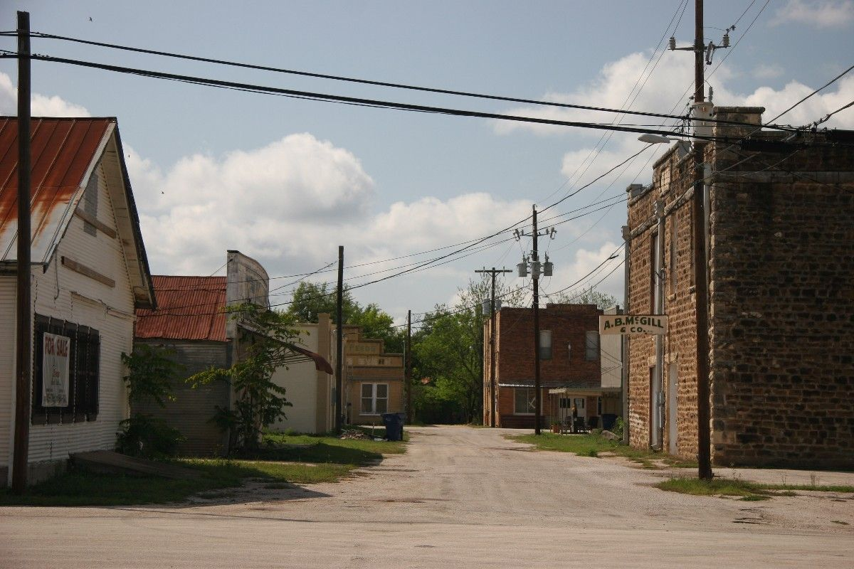 Small town in Texas, near Austin but a different world.