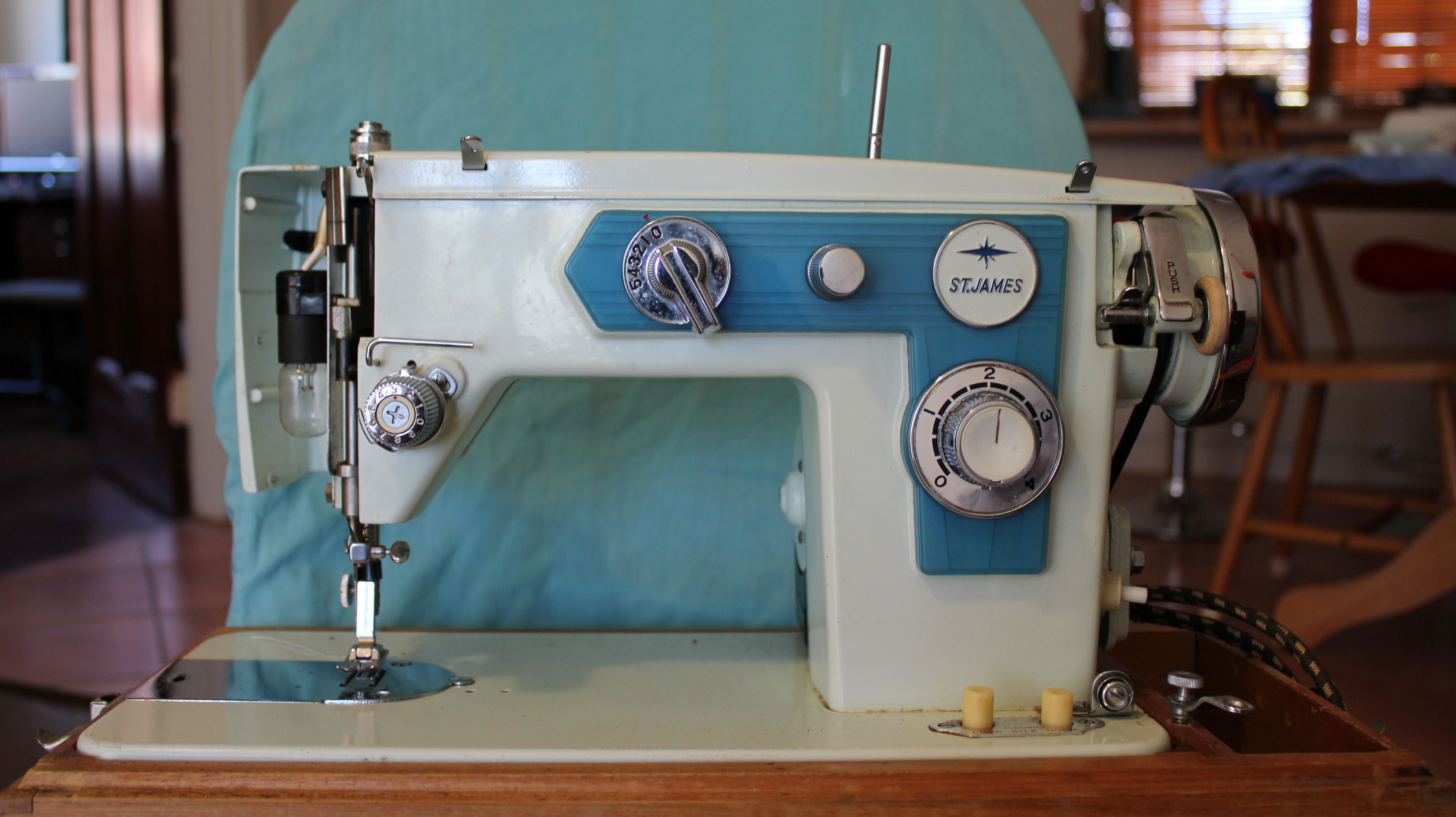 Mint Green And Blue Vintage St James Japanese Made Sewing Machine Necchi Bu Threading Diagram 3