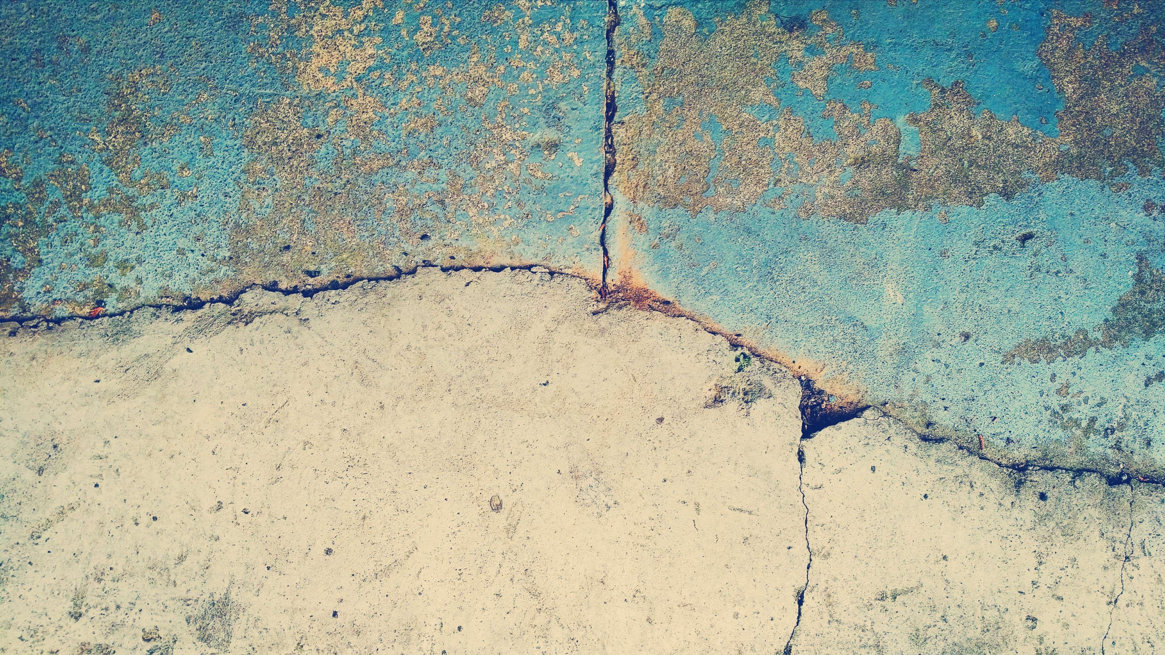 Abstract Art Backdrop Background Blue Concrete Cracked Cracks Distressed Floor Gold Grey Material Metal Rou Abstracto Telones De Fondo Pavimento