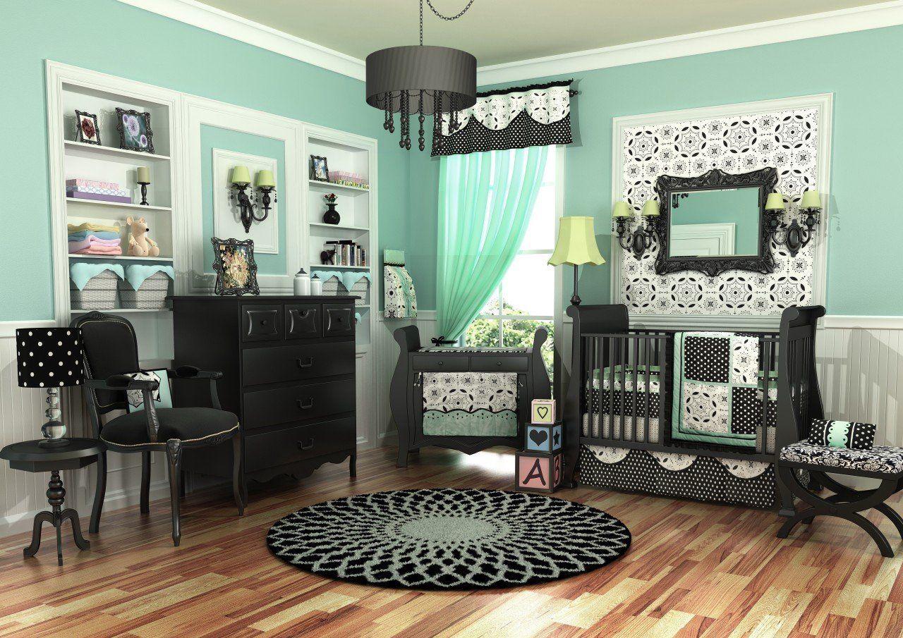 Amazon Com Dk Leigh Crib Nursery Bedding Set Turquoise