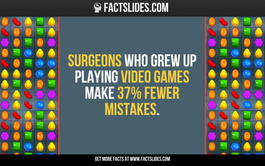 Surgeons who grew up playing video games make 37% fewer mistakes.