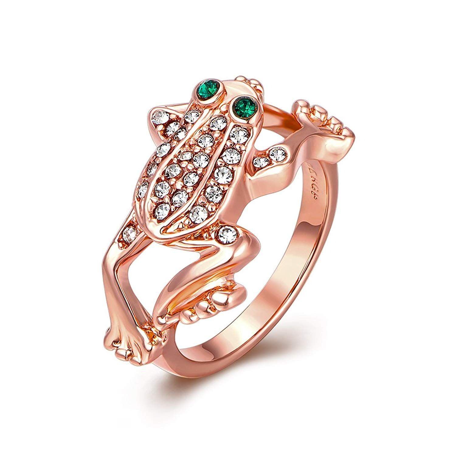 2c8e0e578 LuckyWeng Women's New Exquisite Fashion Jewelry Rose Gold Frog Diamond Ring  ** Many thanks for seeing our image. (This is an affiliate link)  #promiserings