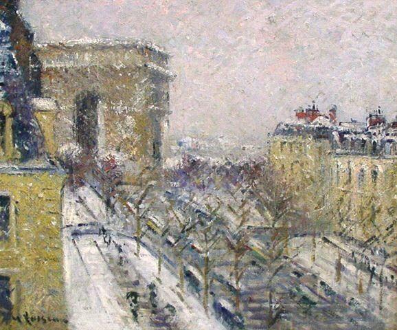 Snowy Paris