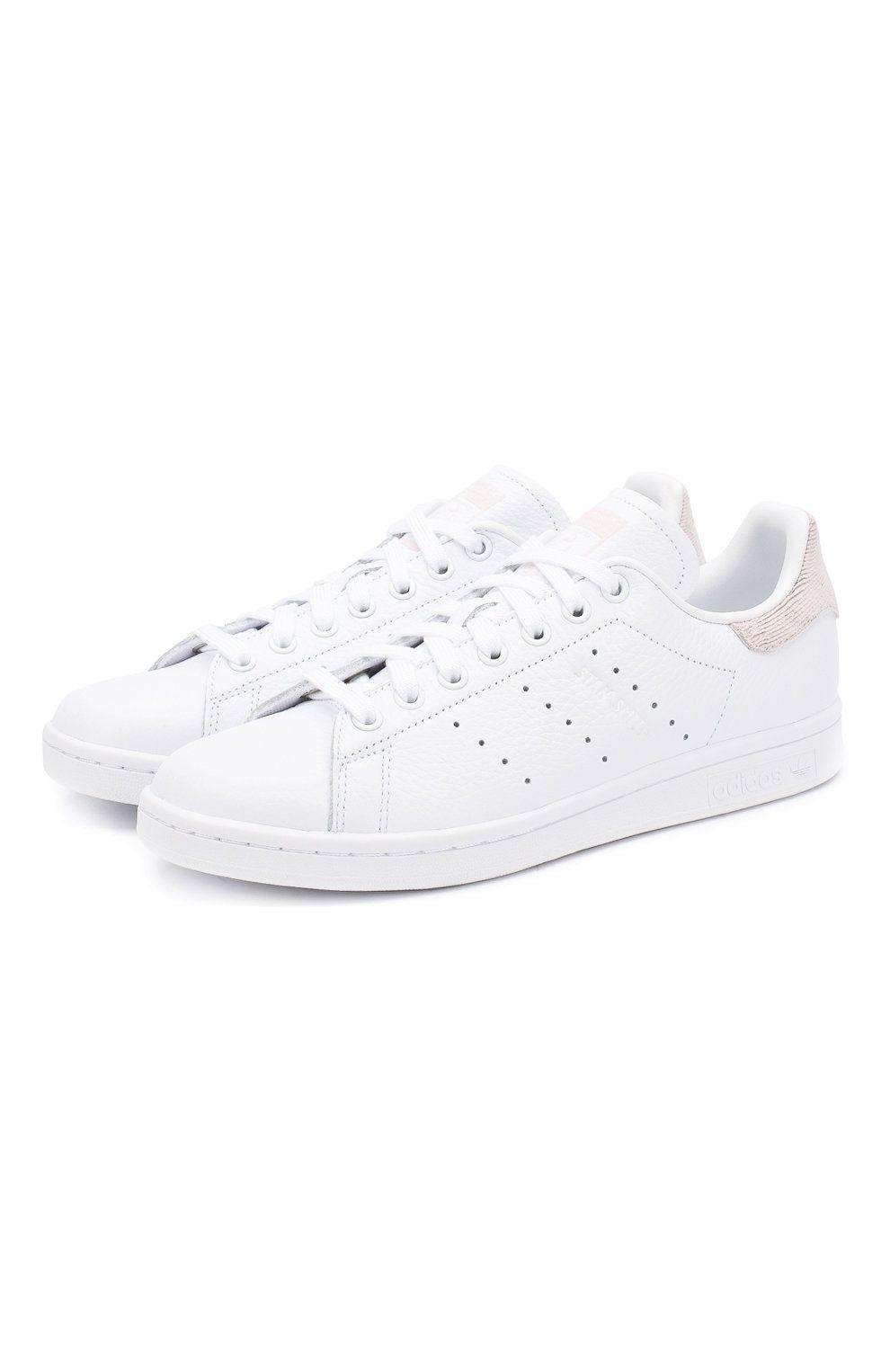 105ca313 Женские белые кожаные кеды stan smith на шнуровке ADIDAS ORIGINALS — купить  за 6400 руб. в интернет-магазине ЦУМ, арт. B41625