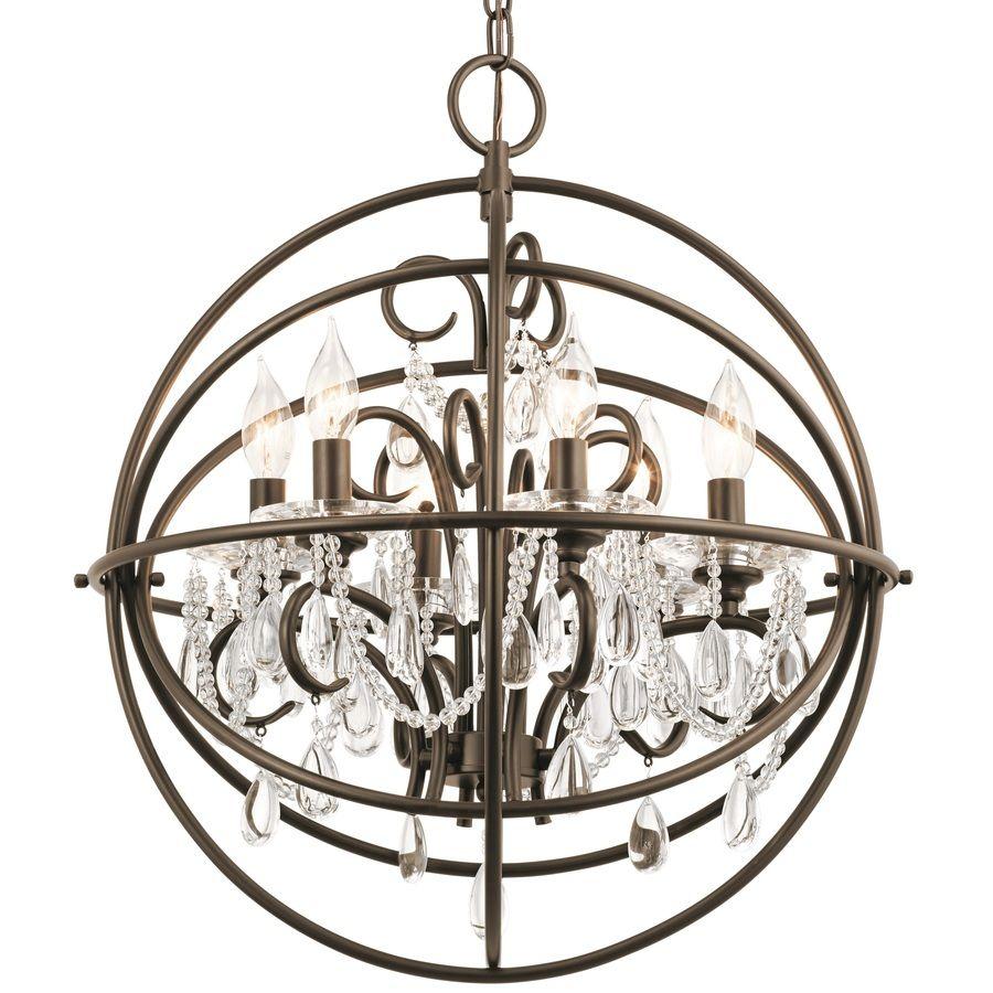 Shop kichler lighting vivian 1902 in 6 light olde bronze crystal shop kichler lighting vivian 1902 in 6 light olde bronze crystal crystal globe chandelier arubaitofo Images