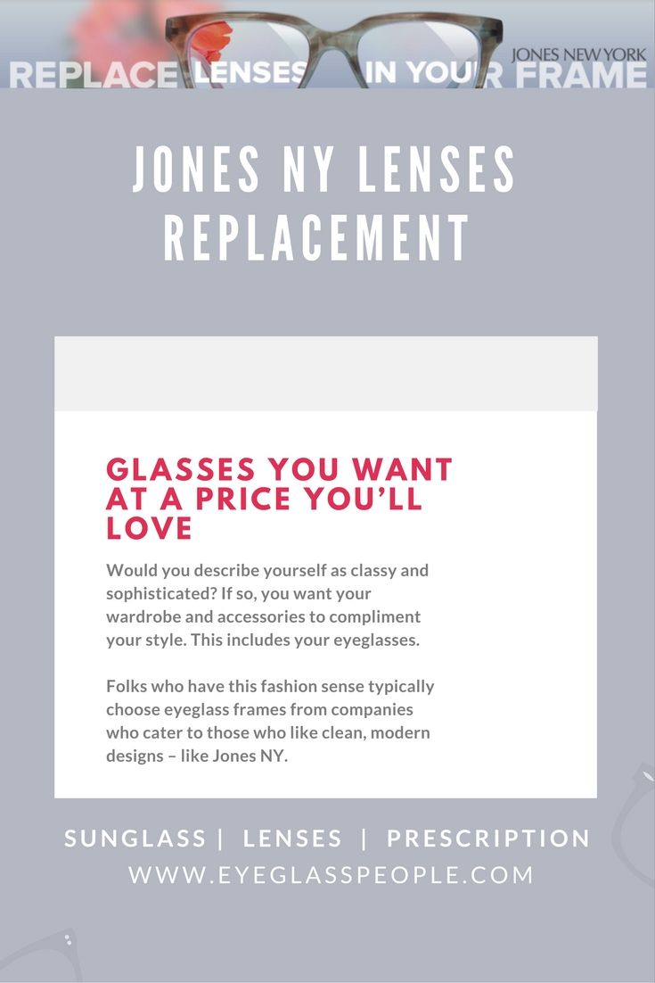 Jones NY frames cost around $100 to $150. If you went to a ...