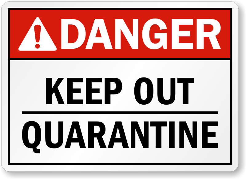 photo about Quarantine Sign Printable named quarantine signal printable - Google Look Zombie