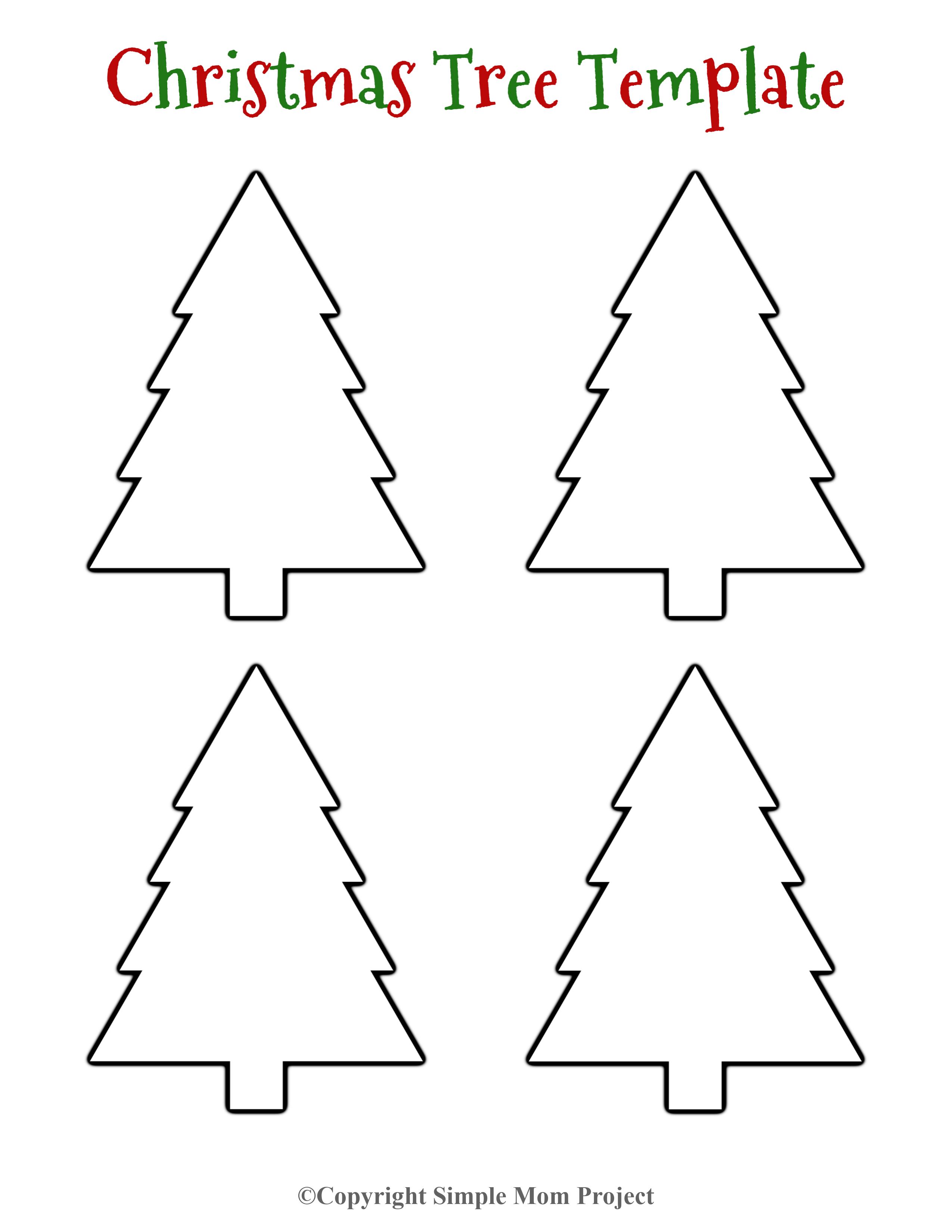 8 Free Printable Large Snowflake Templates Christmas Tree Template Christmas Tree Printable Tree Templates