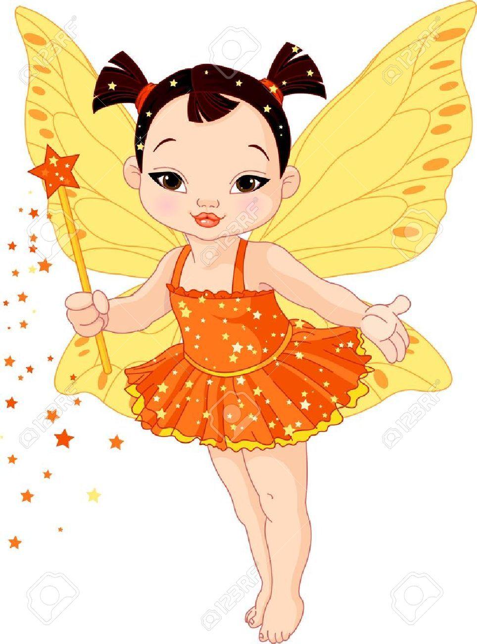 Stock Vector Baby Fairy Cute Asian Babies Cute Fairy
