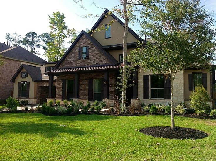 Brick stone exteriors homes brick stone exteriors for Houses with stucco and siding