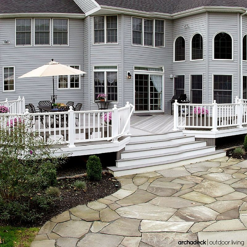 Trex Deck And Porch Combo Came Out Awesome Decks And Porches Deck Design Trex Deck