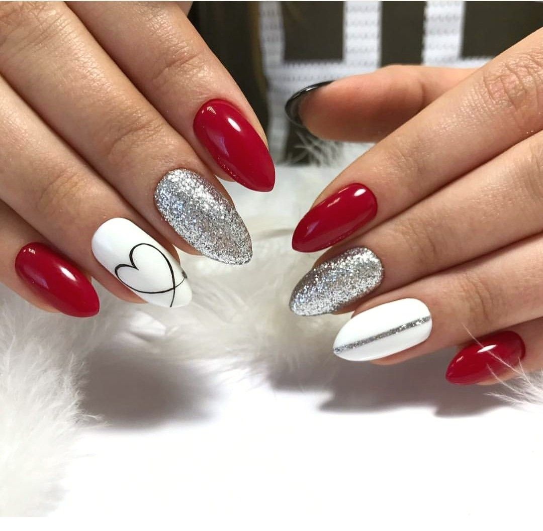 100 Nail Art Ideas That You Will Love Ladystyle Red Gel Nails Nail Designs Valentines February Nails