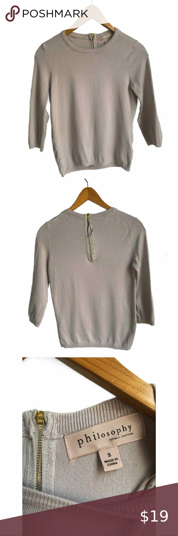 Philosophy Stone Taupe Crew Neck Sweater In 2020 Crew Neck Sweater Sweaters Clothes Design