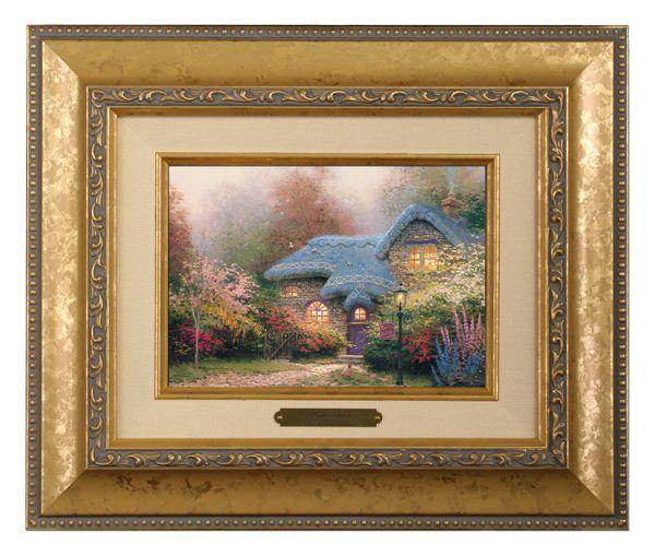 Heather's Hutch - Brushwork (Gold Frame) by Thomas Kinkade