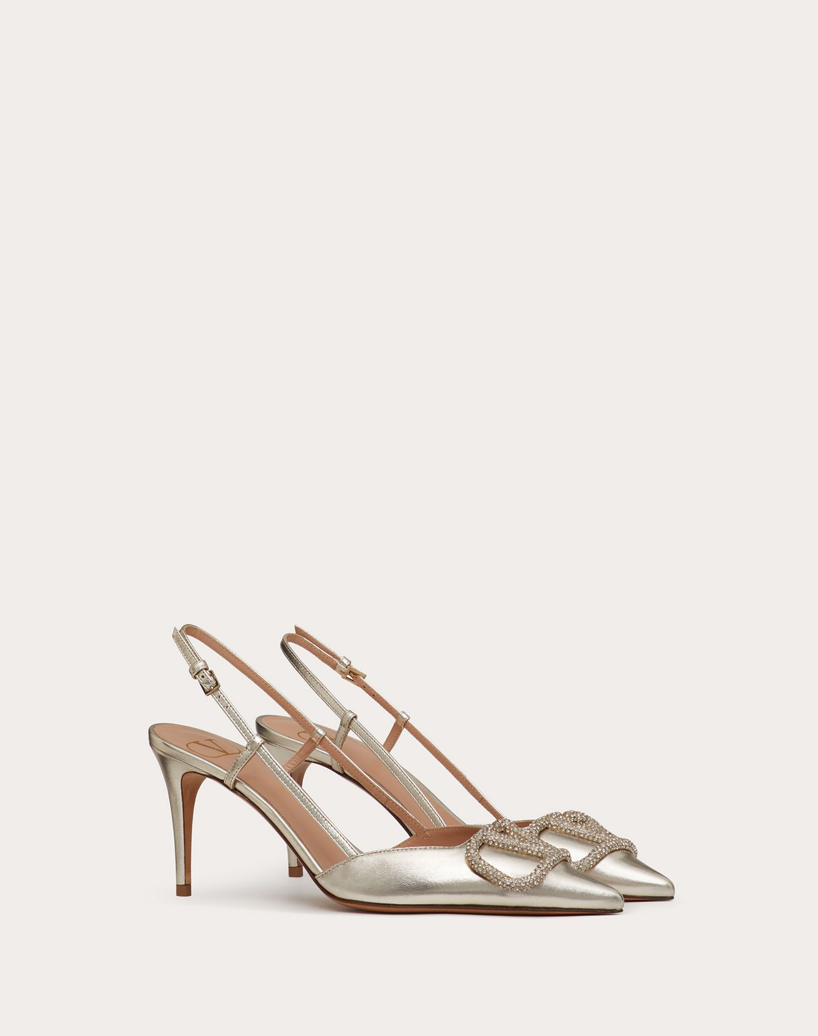 Vlogo Glow Laminated Nappa Slingback Pump 80 Mm 3 15 In For Woman Valentino Online Boutique In 2020 Slingback Pump Slingback Valentino