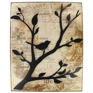 Design Idea From Hobby Lobby Bird On Tree Metal Wall Decor Card Size Or Wall Size Metal Tree Wall Art Tree Wall Art Diy Metal Tree