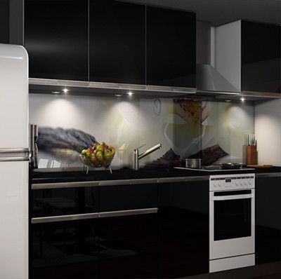 Küchenrückwand Klebefolie Möbel  Wohnen Kuechenrueckwand Folien - glasbilder für küche