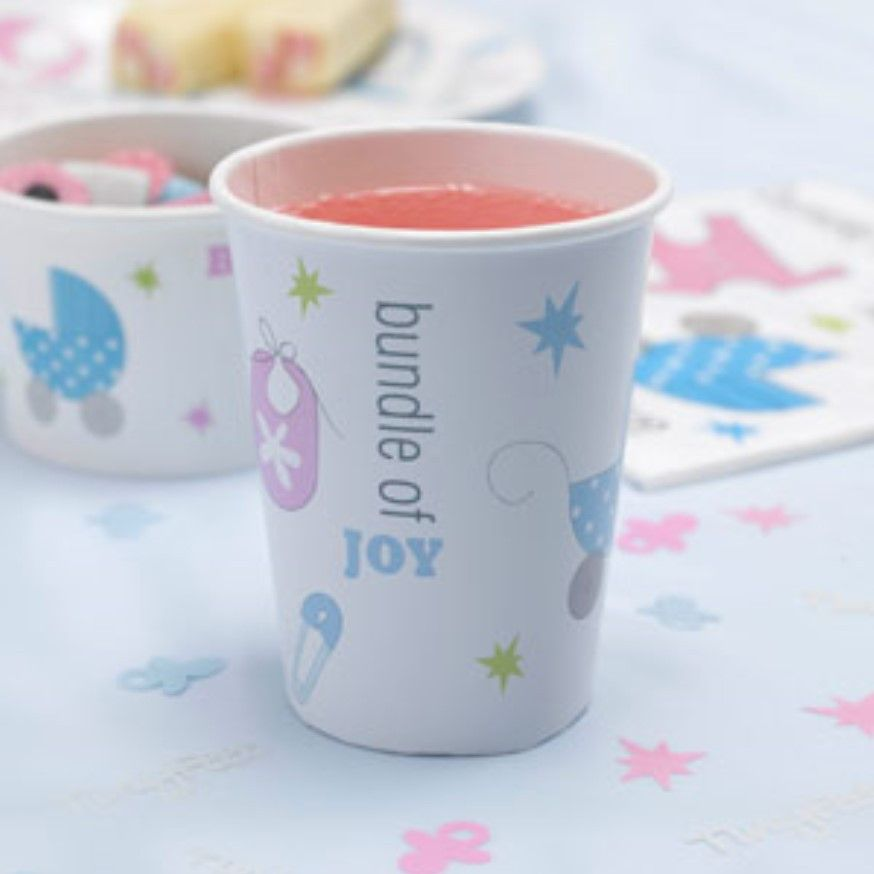 Tiny Feet Cups Paper Cup Pink Baby Shower Party Baby Shower Paper