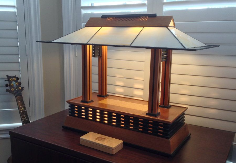 Frank Lloyd Wright Prairie Style Table Lamp By Rdwile