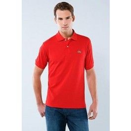 lacoste men polo shirt red