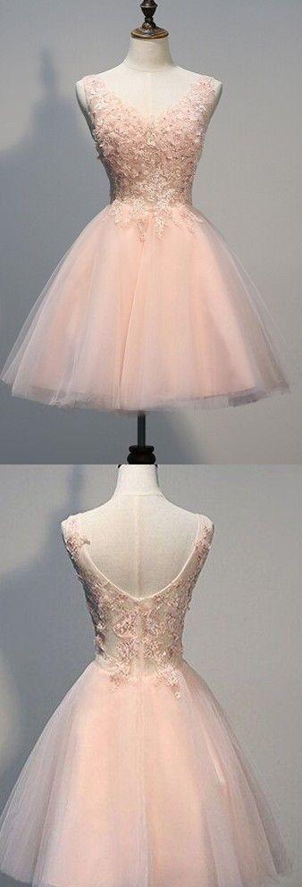 Blush Pink Homecoming dresses, off shoulder lace homecoming dresses, Beaded prom dresses, see through prom dresses, dresses for prom