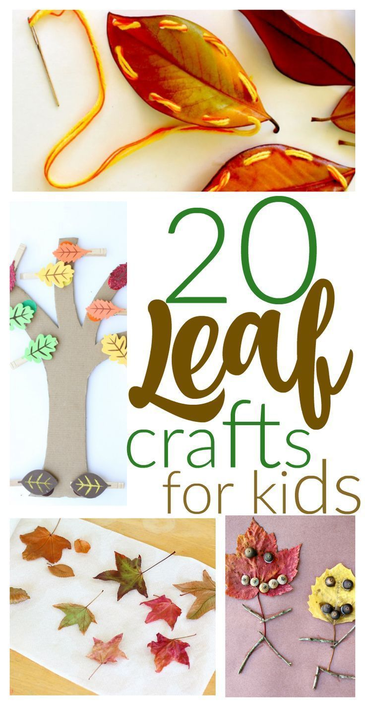 20 Fall Kids Crafts with Leaves: Leaf ideas for everyone...from toddlers to tweens!