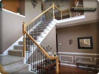 Iron Stair Parts Patterns   High Quality Powder Coated Stair Parts.