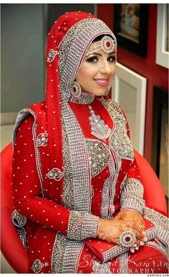 Perfect muslim bride probably indian muslim as indians for Indian muslim wedding dress