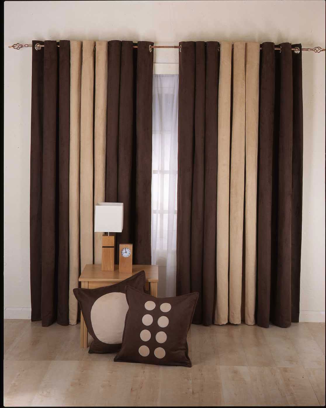Living Room Curtain With Table And Pillow Also Lamp Ideas Designs For Your