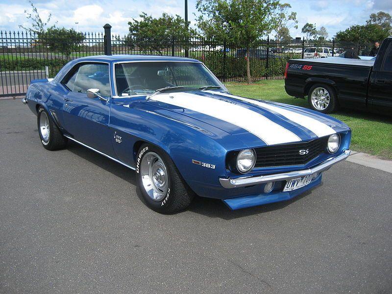 69 Chevrolet Camaro Ss 383 Blue W White Racing Stripes My Dream