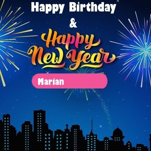 2020 Happy New Year & Birthday Wishes With Name Images in ...
