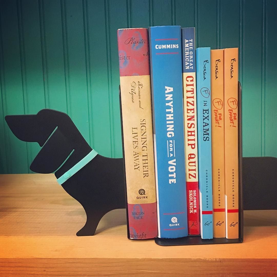 A best friend for your books  . . . . #catchingfireflies #annarbor #kerrytown #visitannarbor #berkleymi #downtownberkley #rochestermi #downtownrochester #shoplocal #shopsmall #whimsicalgifts #bookends #doglover #dauchshund #bassethound
