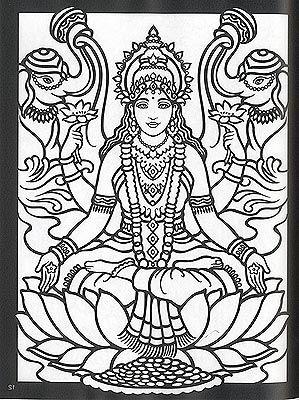 keth 1221 hindu gods colouring pagescoloring