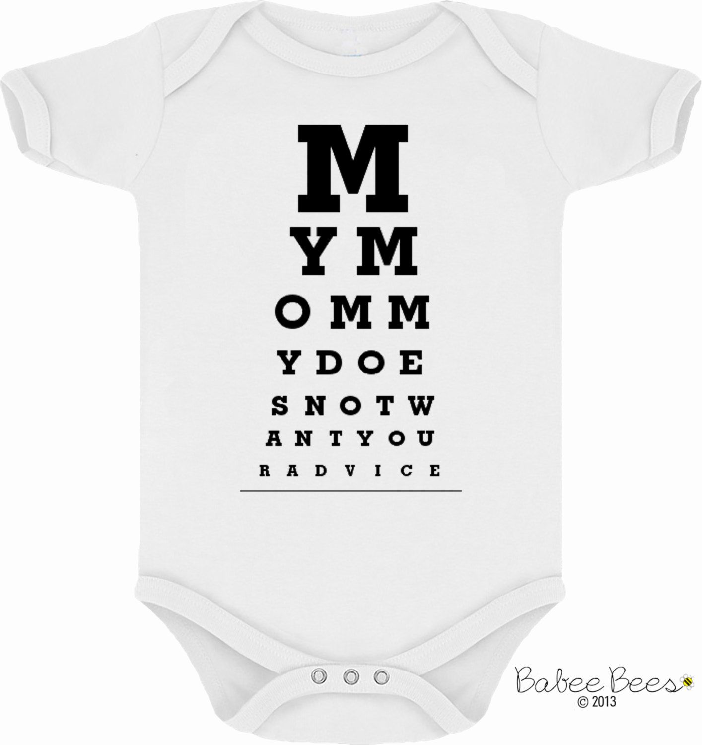 Eye Chart Shirt My Mommy Mommy to Be Mommy and Me Cute Baby
