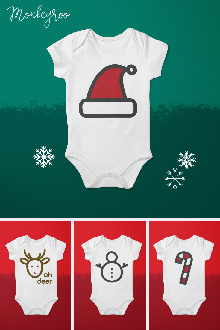 58c1abb042430 Swaddle baby in these soft cotton festive onesie bodysuits. Perfect for  celebrating the holidays in a variety of designs