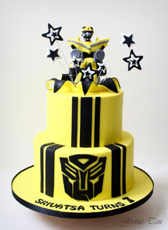 Bumblebee Transformer Cake By Joonie Tan In 2019