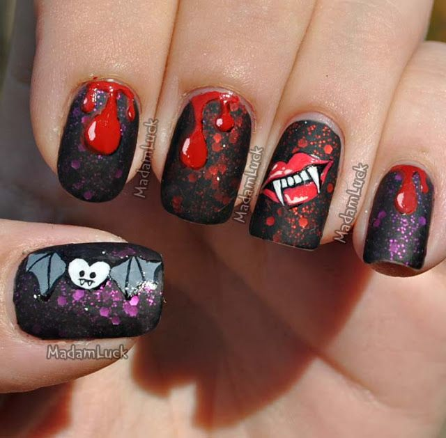 Madamlucks Beauty Journey My Halloween Themed Nail Art 2012 Nails