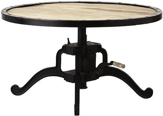 industrial coffee table adjustable