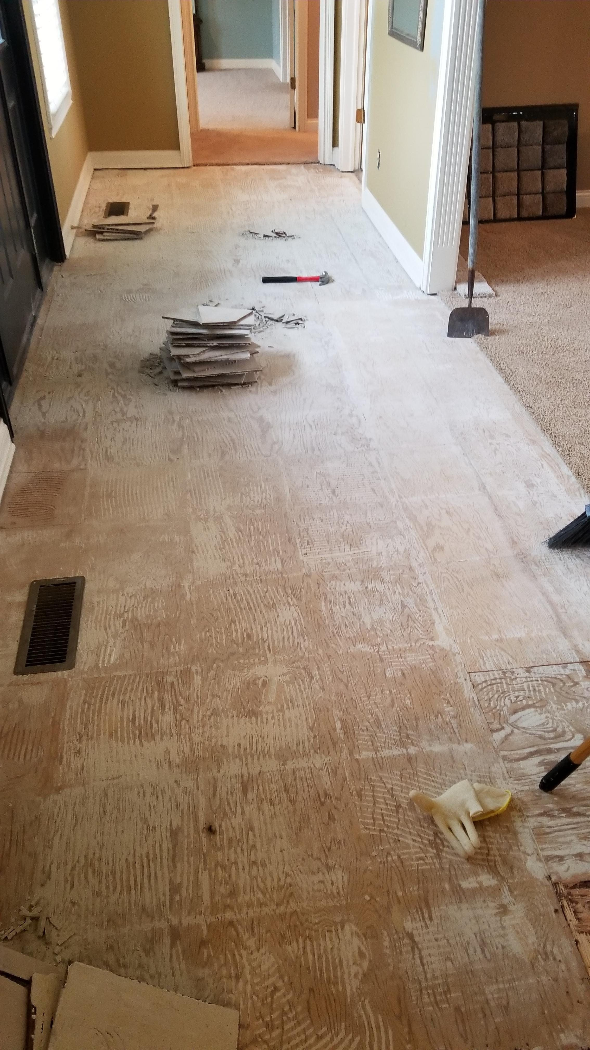 Fast And Efficient Method Of Prepping Subfloor After Tile Removal Bath Bombs Diy Diy Sweepstakes Tile Removal