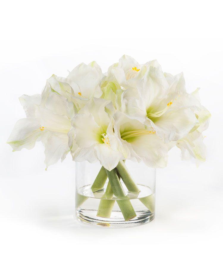 Elegant white amaryllis silk flower centerpiece beauty and style elegant white amaryllis silk flower centerpiece beauty and style with artificial silk flowers mightylinksfo
