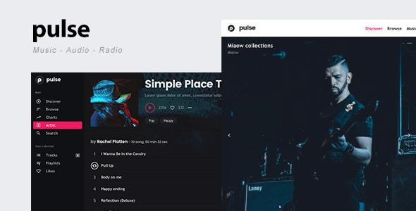pulse - Music, Audio, Radio WordPress Theme - Music and Bands ...