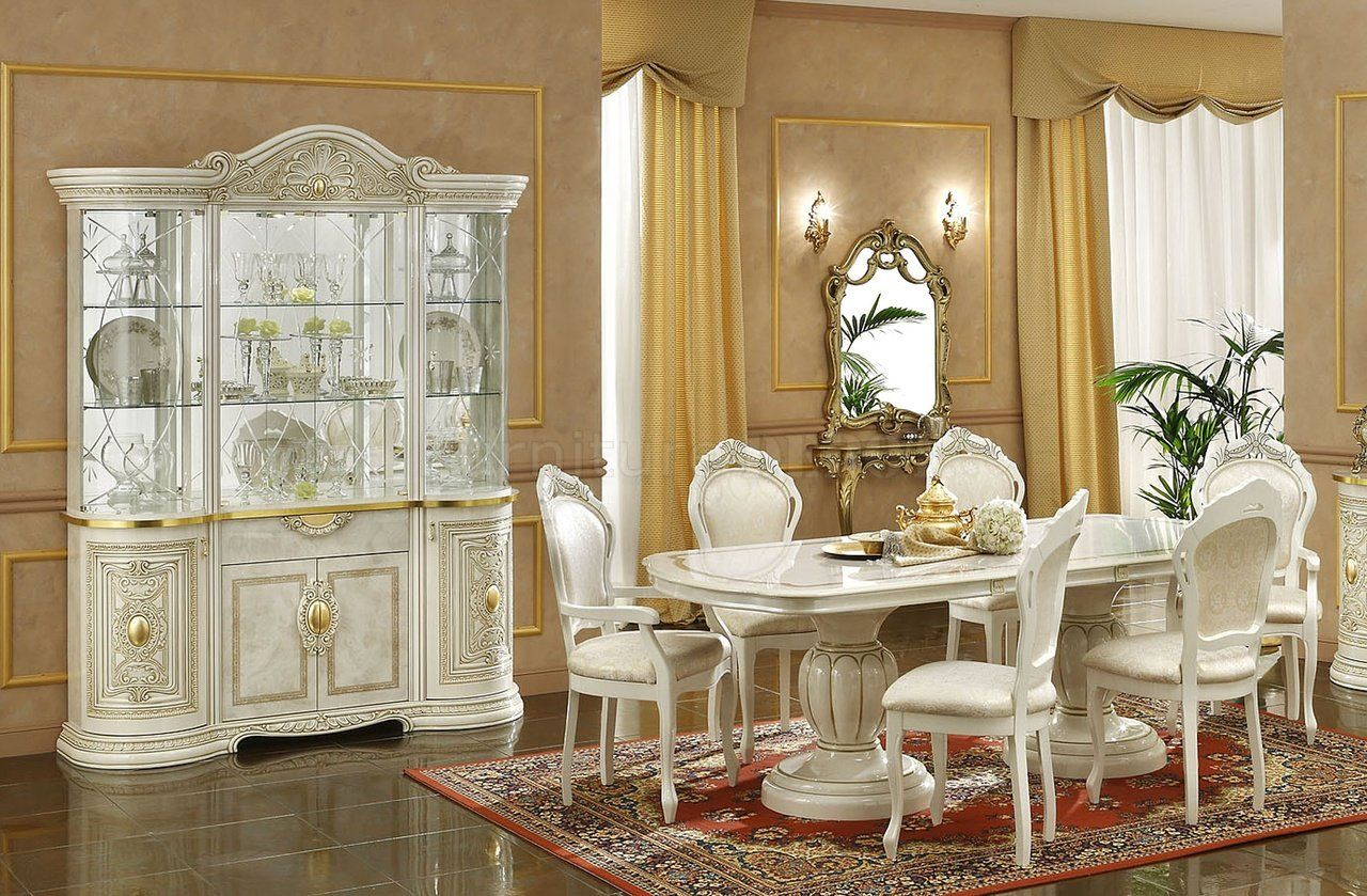 Marvellous White Furnitures Of Dining Room With Oval Table And Chairs On  Rug Completed With Dining