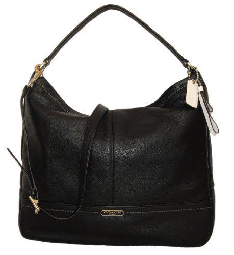 Coach 23293 Park Black Pebbled Leather Hobo Shoulder Bag | Fashion ...