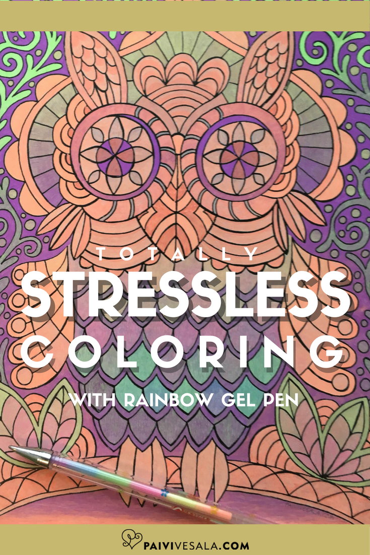 Are you already familiar with rainbow gel pens? They are otherwise normal gel pens, but one pen contains several colors.