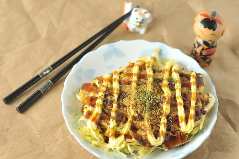 Okonomiyaki Japanese Cabbage Pancake Asian Recipes Asian Kitchen Cabbage