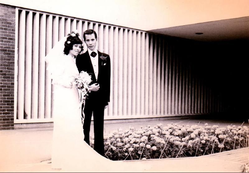 Wedding Photo Of Mr And Mrs Lo Kwan Pang At Hong Kong City Hall In 1973 Photo City Hall Asian Wedding