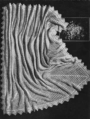 Free Knitting Pattern Cirrus Lace Knit Baby Shawl Free Knitting