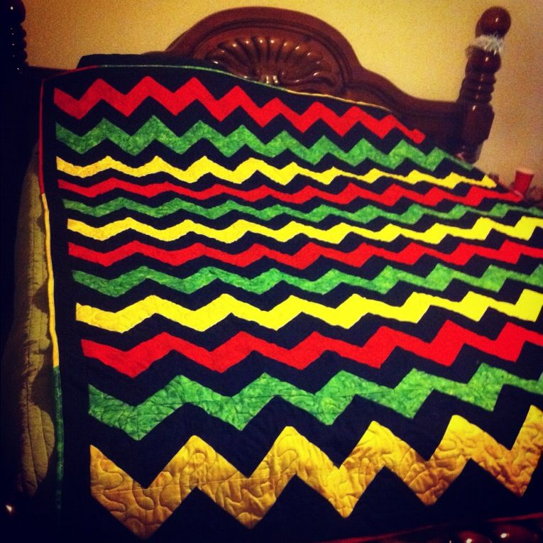 My Completed Rasta Quilt Quilting Designs Quilt