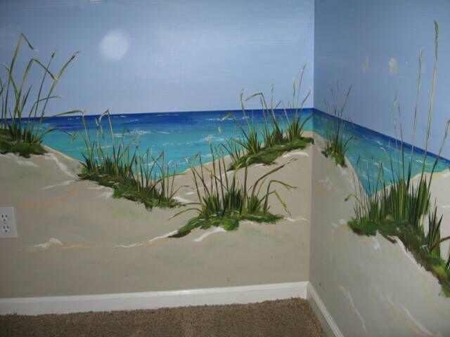 Example Of Seaside Mural Murals Beach Wall Murals