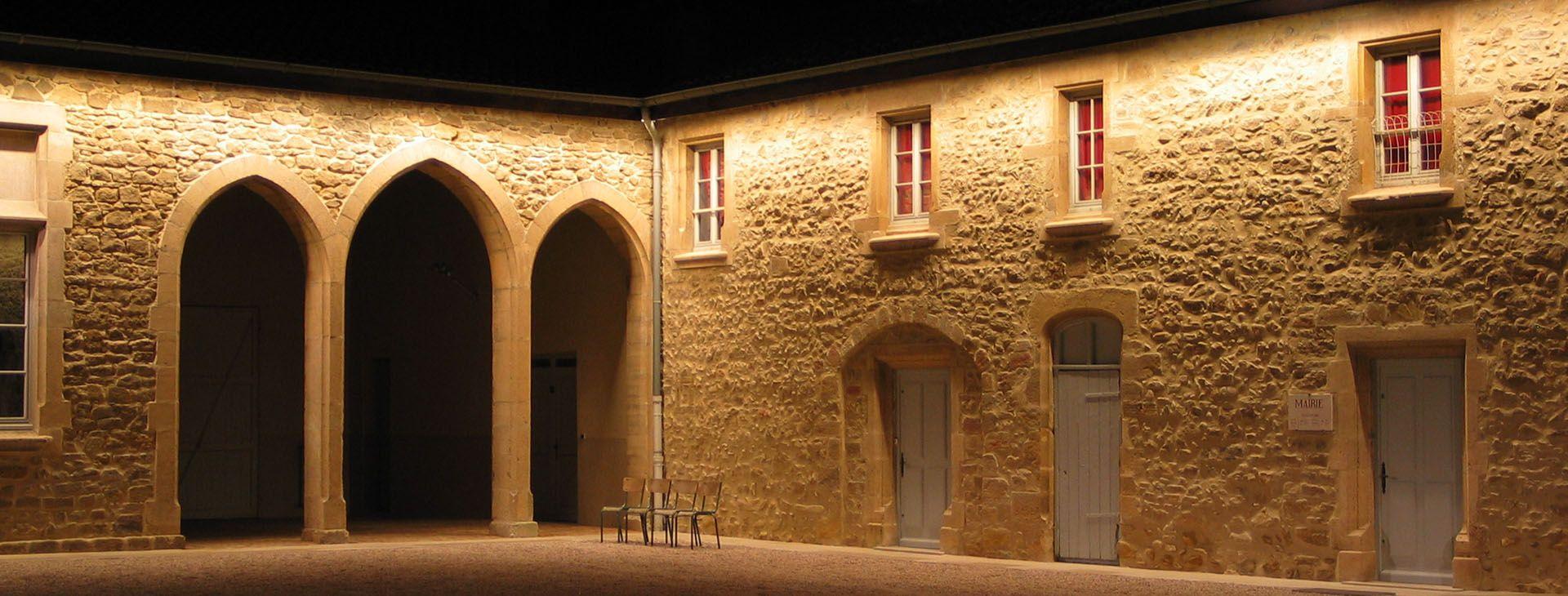 Montseveroux castle Illuminazione facciate, Progetti di